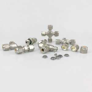 Double Ferrules Compression Tube Fittings